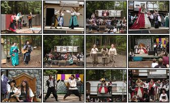 Small combination photos of 2004 Maine Renaissance Faire Calendar